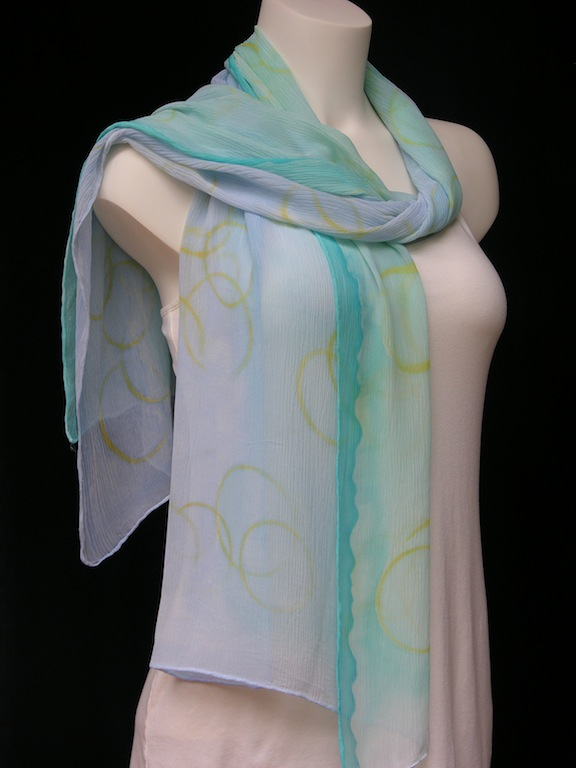 Greece Vacation Silk Scarf