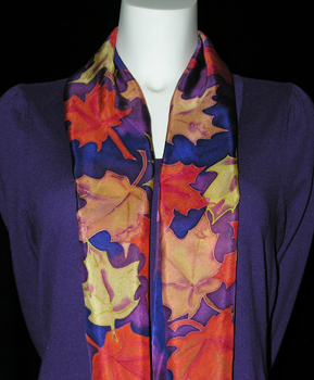Fall Leaves Silk Scarf